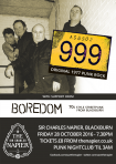General Admission: 999 + Boredom, 28 Oct 16